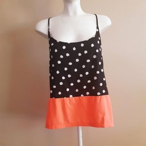Hurley | polkadot racerback two toned camisole